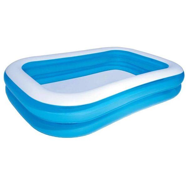opblaasbaar zwembad 262 x 175 x 51 cm (blauw/wit)