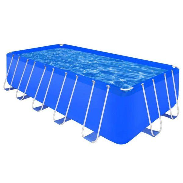 Opbouwzwembad met stalen frame rechthoekig 540 x 270 x 122 cm