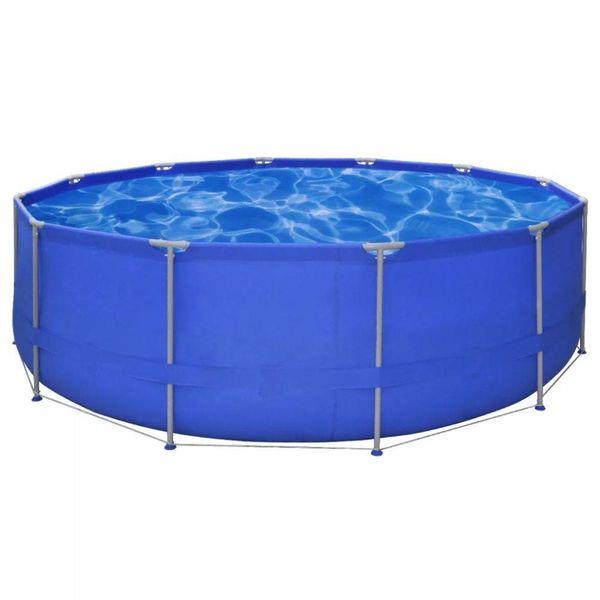 Opbouwzwembad met stalen frame 457 x 122 cm rond