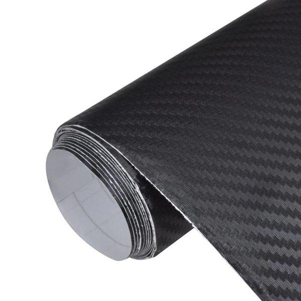 Koolstofvezel vinyl autofolie 3D 500x152 cm zwart