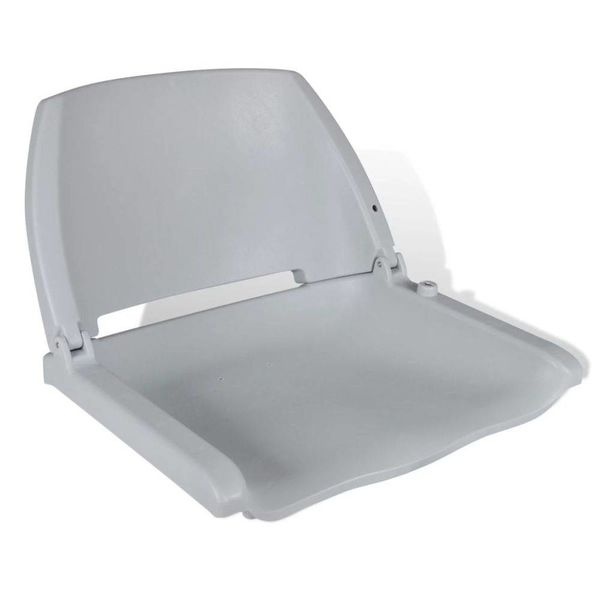 Grijze opklapbare bootstoel zonder kussen 41 x 51 x 48 cm