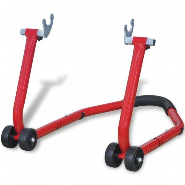 Motorfiets achterwiel standaard rood