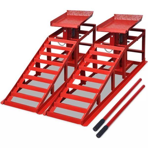Autoreparatie oprijplaten staal rood 2 st