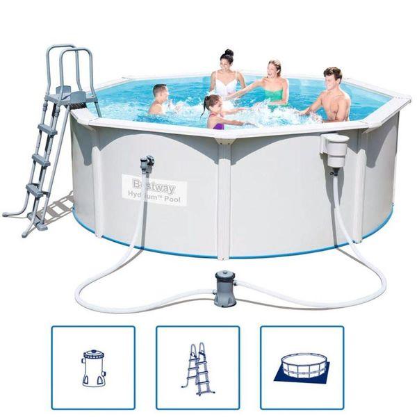 Hydrium stalen frame zwembad set 360 x 120 cm (rond)