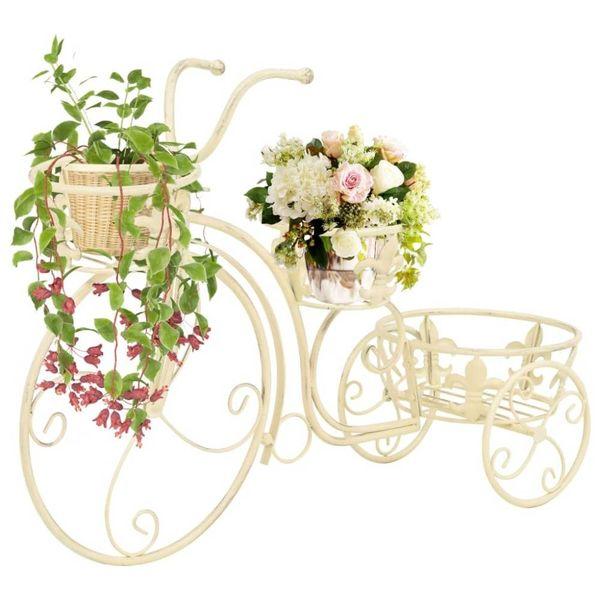 Plantenstandaard fietsvorm vintage stijl metaal