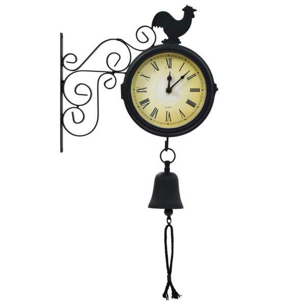 Tuinklok met thermometer vintage stijl