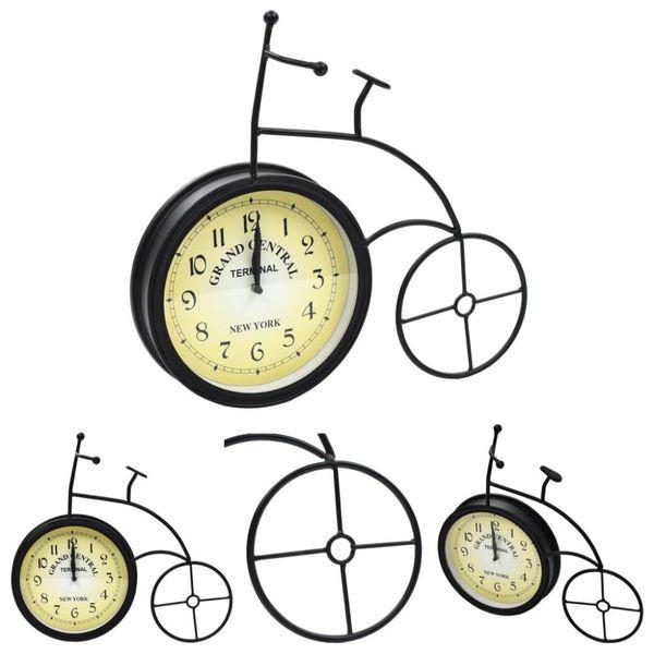 Tuinklok fiets vintage stijl