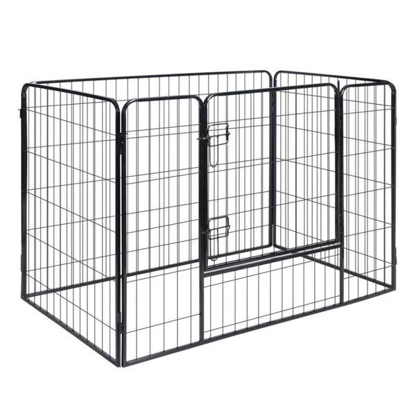 Hondenren met 4 panelen staal