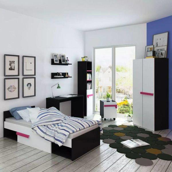 Kinderkamer meubelset incl. matras 8-delig roze