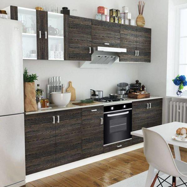 Keukenkastenset met 6-functie-inbouwoven wenge-look