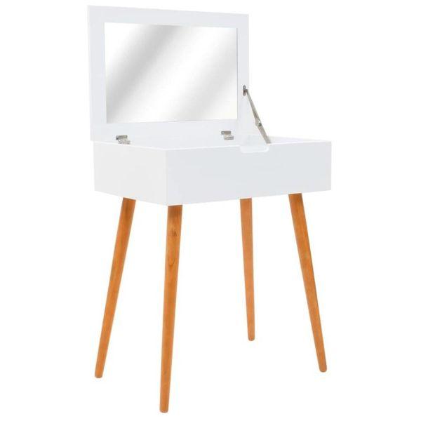 Kaptafel met spiegel 60x40x75 cm MDF