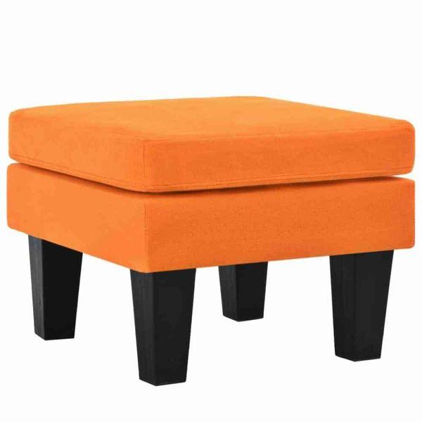 Hocker 53x53x41 cm stof oranje
