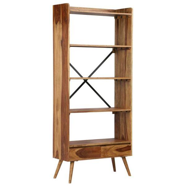 Boekenkast 75x30x170 cm massief sheesham hout