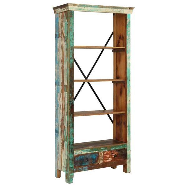 Boekenkast 80x35x180 cm massief gerecycled hout