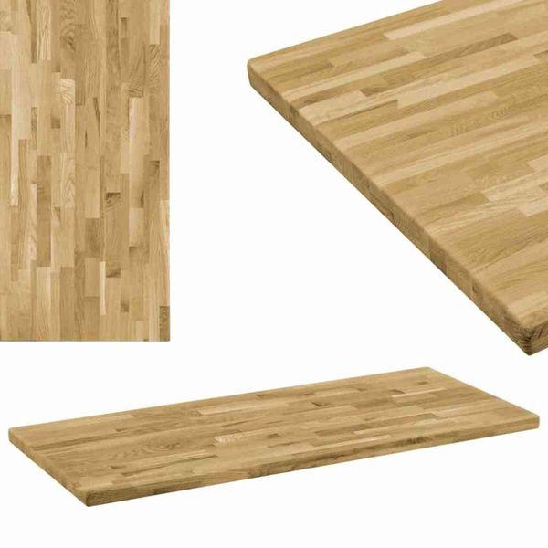 Tafelblad rechthoekig 44 mm 100x60 cm massief eikenhout