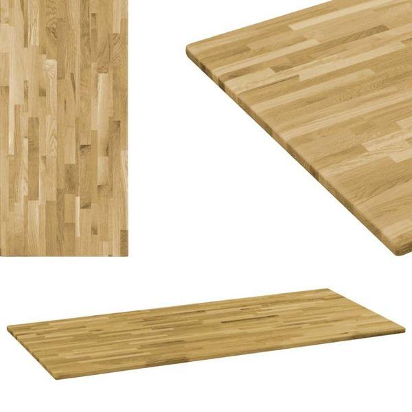 Tafelblad rechthoekig 23 mm 140x60 cm massief eikenhout