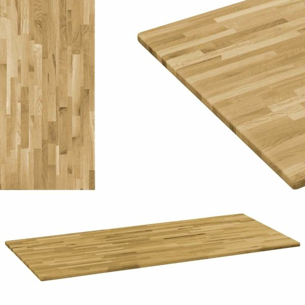 Tafelblad rechthoekig 23 mm 100x60 cm massief eikenhout