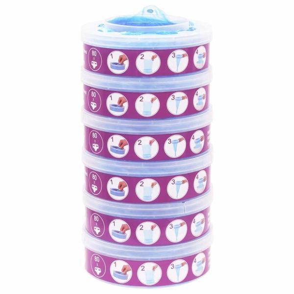 Navulcassette voor Sangenic TEC Diaper Twisters MK3/4/5 6 st