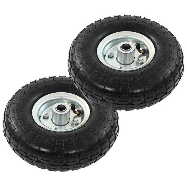 Steekwagenwielen 4,10/3,50-4 (260x83) rubber 2 st
