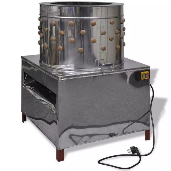 Elektrische plukmachine voor pluimvee met 129 plukvingers 58 cm 2200 W