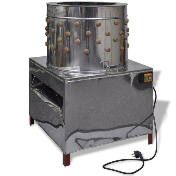 Elektrische plukmachine voor pluimvee met 91 plukvingers 50 cm 1500 W