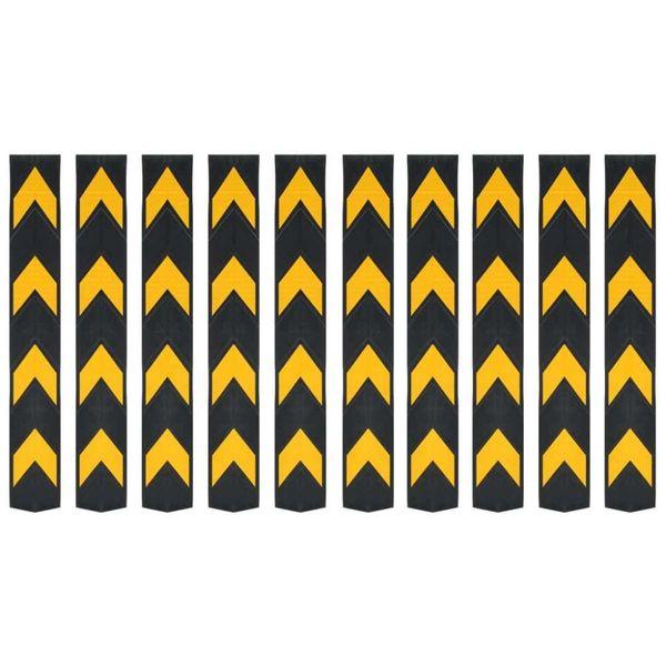 Hoekbeschermers reflecterend 80 cm rubber 10 st