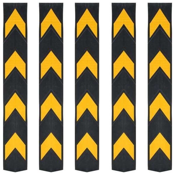 Hoekbeschermers reflecterend 80 cm rubber 5 st