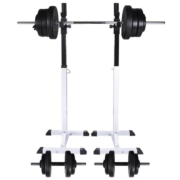 Halter-/squatrek met halterset 60,5 kg