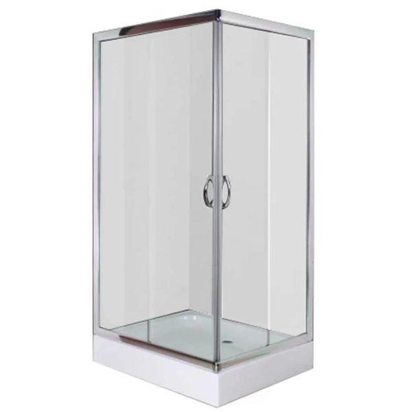 Douchecabine met bak rechthoekig 100x80x185 cm