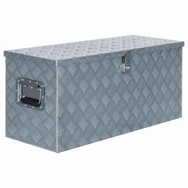 Doos 90,5x35x40 cm aluminium zilverkleurig
