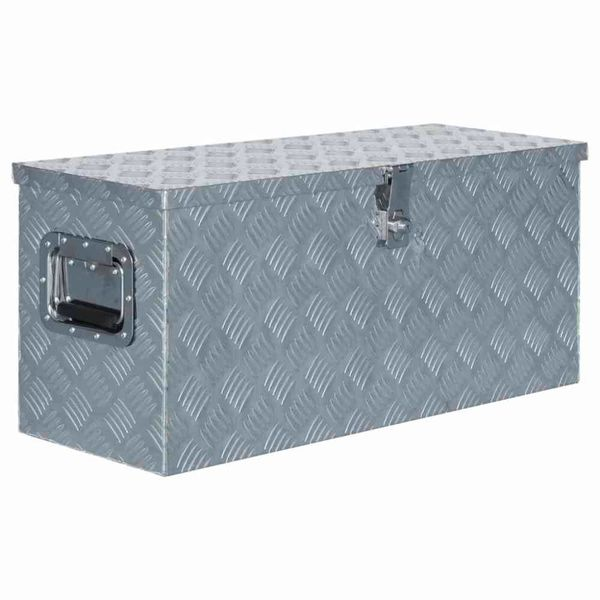 Doos 80x30x35 cm aluminium zilverkleurig