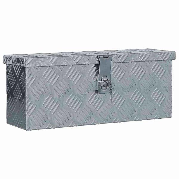 Doos 48,5x14x20 cm aluminium zilverkleurig
