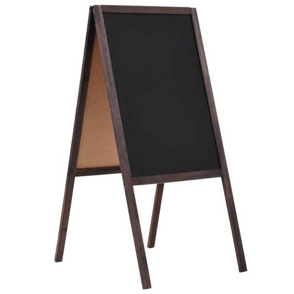Krijtbord dubbelzijdig vrijstaand 40x60 cm cederhout