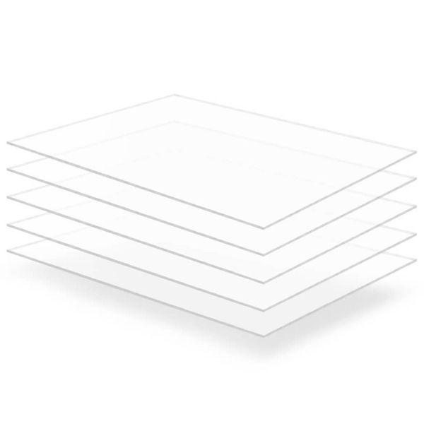 Acrylplaat 600x800x2 mm transparant 5 st