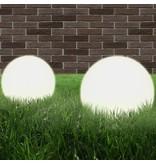vidaXL LED-bollampen rond 30 cm PMMA 2 st
