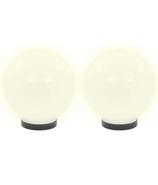 vidaXL LED-bollampen rond 20 cm PMMA 2 st