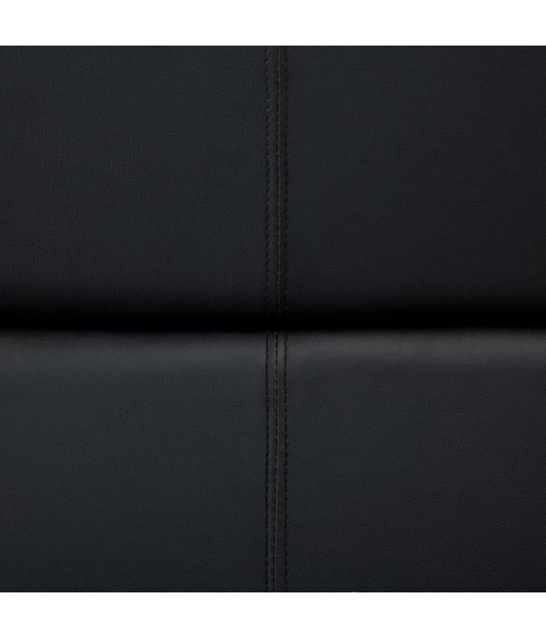 vidaXL Bank met verstelbare leuning L-vormig kunstleer zwart