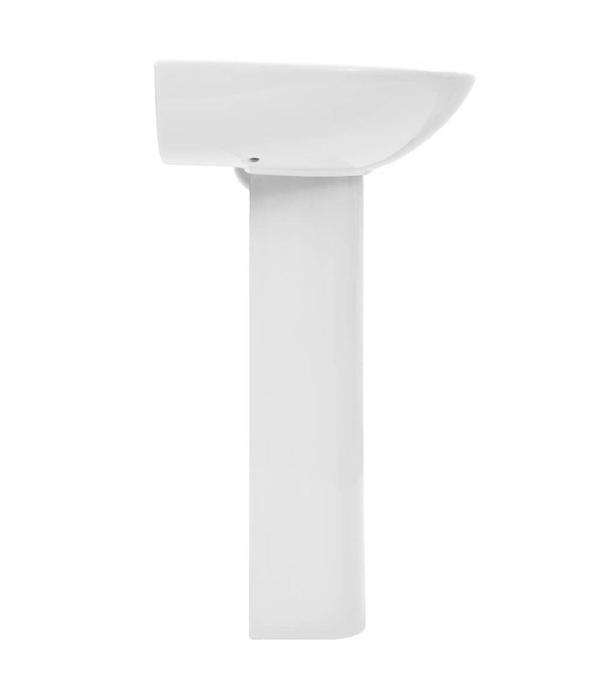vidaXL Wastafel op voet vrijstaand 520x440x190 mm keramiek wit
