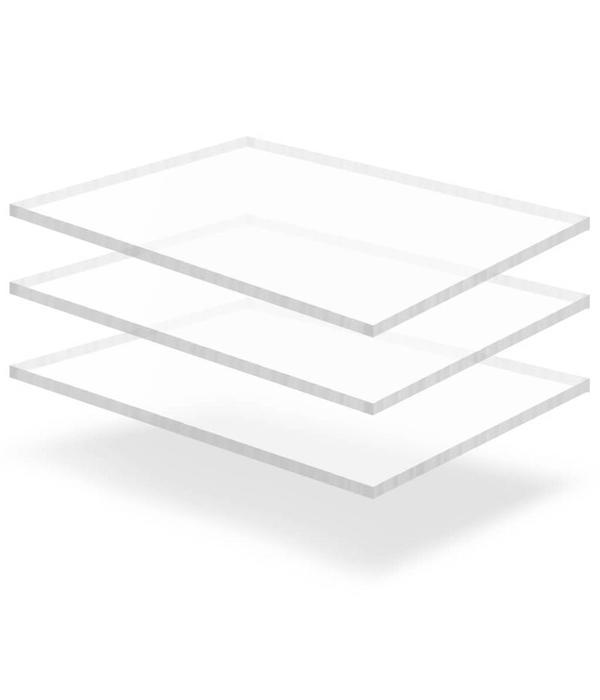 vidaXL Acrylplaten 600x800x15 mm transparant 3 st