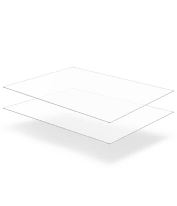 vidaXL Acrylplaten 600x800x6 mm transparant 2 st