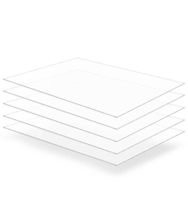 vidaXL Acrylplaten 600x800x5 mm transparant 5 st