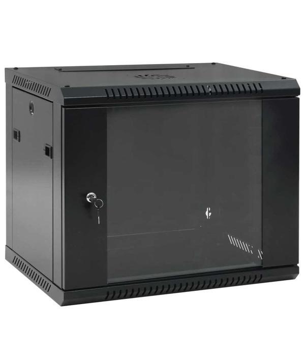"""vidaXL 9U Netwerkkast voor aan de muur 19"""" IP20 600x450x500 mm"""