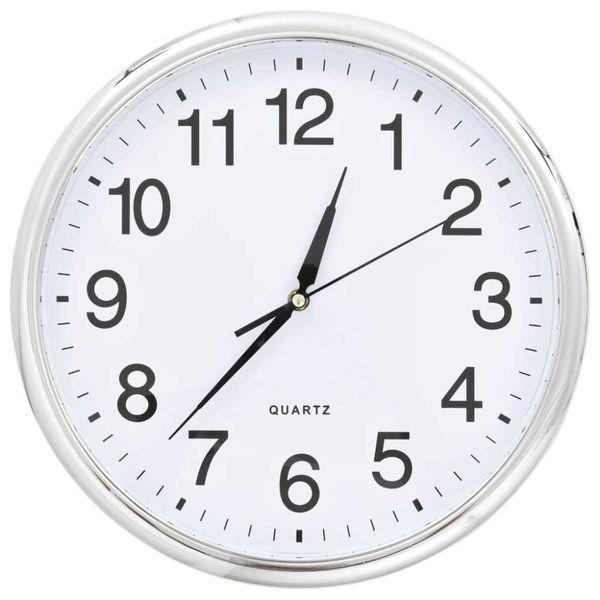 Wandklok met quartz uurwerk 36 cm zilverkleurig