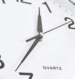 vidaXL Wandklok met quartz uurwerk 36 cm zilverkleurig