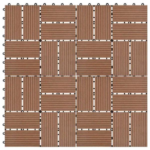 11 st Terrastegel 30x30 cm 1 m² HKC bruin