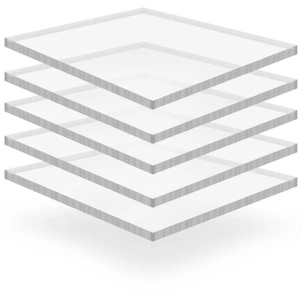 Acrylplaten 400x600x15 mm transparant 5 st