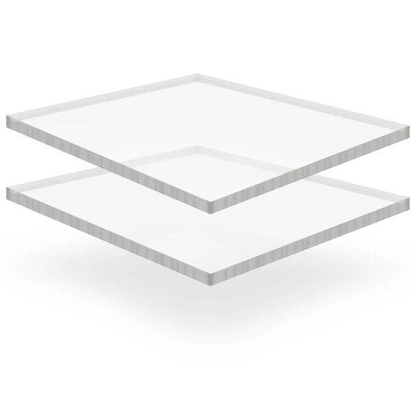 Acrylplaten 400x600x15 mm transparant 2 st