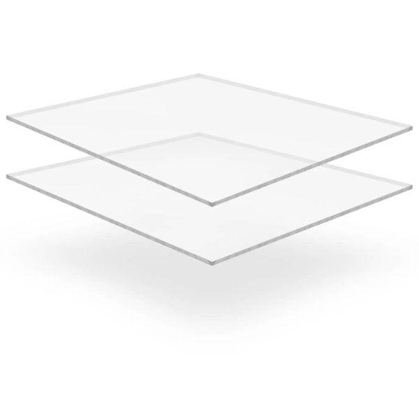 Acrylplaten 400x600x10 mm transparant 2 st