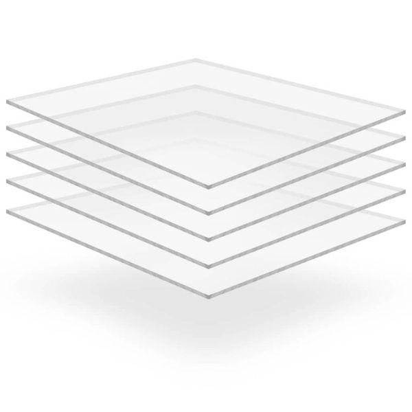Acrylplaten 400x600x6 mm transparant 5 st