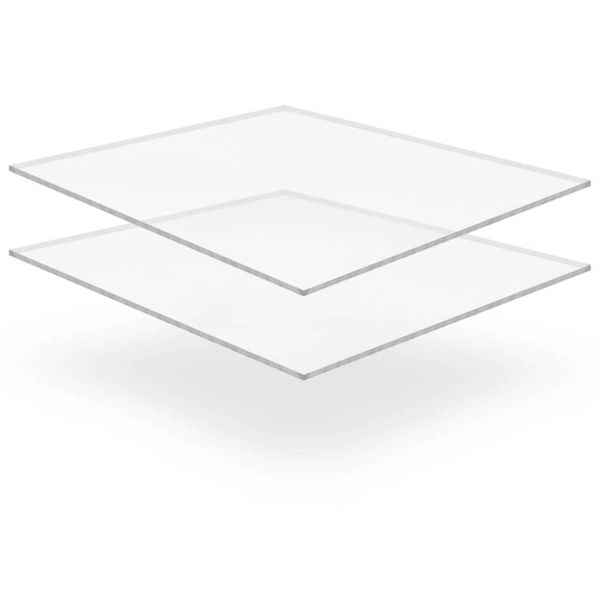 Acrylplaten 400x600x6 mm transparant 2 st